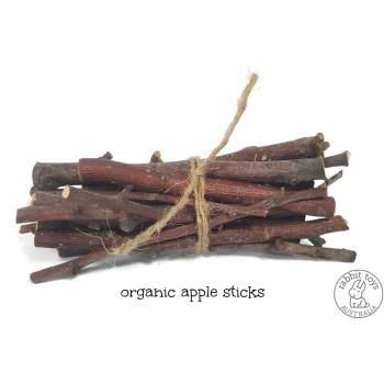 Apple Tree Chew Sticks for Rabbits -100% ORGANIC- GROWN IN AUSTRALIA