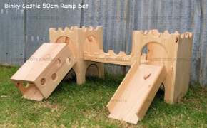 Binky Wooden Bunny Castle 50cm Ramp Set by Rabbit Toys Australia