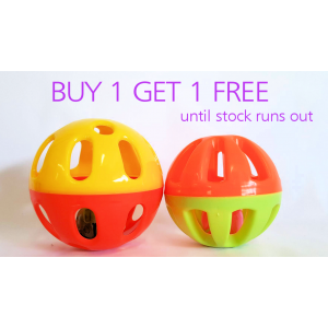 Bunny Rattle Ball 9cm BUY 1 GET ONE FREE!