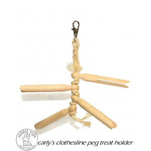 Carly's Clothesline Peg Treat Hanger