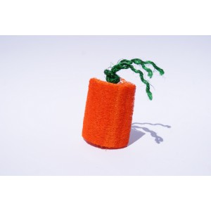 Loofah Carrot Bunny Chew Toy Colour