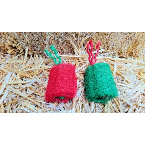 Christmas Carrot Loofah Chew 2 pack