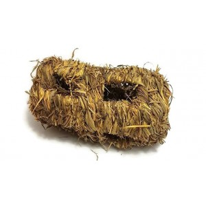 Woven Grass Hay Log Bunny Chew Toy