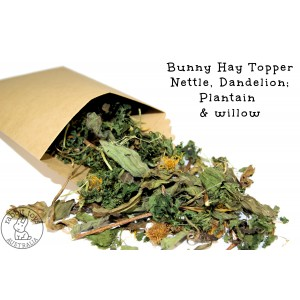 Organic Rabbit Treat Hay Topper ~ Nettle, Plantain, Dandelion & Willow Mix- GROWN IN AUSTRALIA!