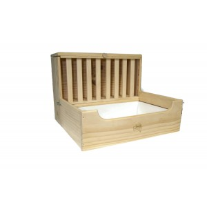 Rabbit Litter Tray with Hay Feeder -EXTRA LARGE