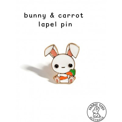 Collectable Pin Bunny Loves Carrots