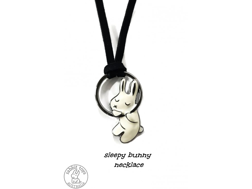 Sleepy bunny pendant and necklace jewelry set sleepy bunny pendant and necklace jewelry aloadofball Images