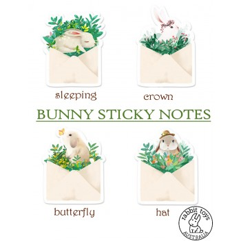 Cute Bunny Accessories for the Hoomins~ Sticky Notes ~ choose from 4 Designs