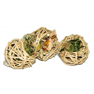Rabbit Treat Vine Chew Ball- PICK YOUR STUFFING!