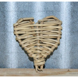 Woven Vine Willow Heart Bunny Chew  Toy -NATURAL