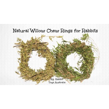 Willow Wreath Rabbit Chew Toy with Leaves- ORGANICALLY GROWN IN AUSTRALIA