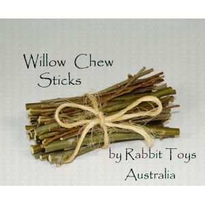 Willow Chew Sticks for Rabbits -100% ORGANIC- GROWN IN AUSTRALIA