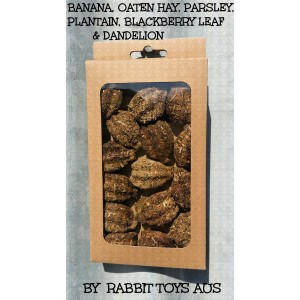 Rabbit Treats Banana Belly  (GRAIN & CEREAL FREE)