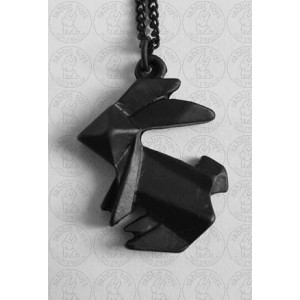 Geometric Bunny Rabbit Necklace